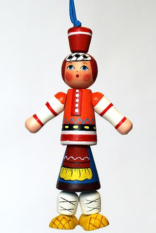 Doll gift Girl in Russian national costume Tambov province
