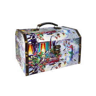 """New Year's gift """"Winter"""" chest, set of chocolates 600g."""