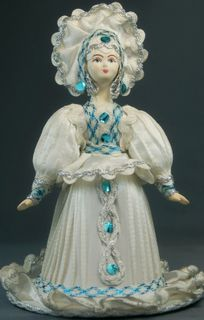 Doll gift porcelain. The snow fairy. Fairy tale character.