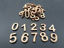 Set of wooden numbers for the account