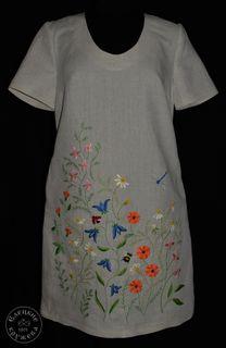 Dress womens linen embroidered С11778