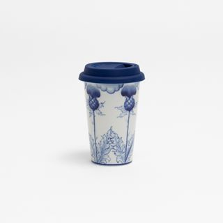 Author's coffee Cup with silicone lid No. 15, Gzhel Porcelain factory