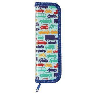 INLANDIA pencil case, 1 compartment, laminated cardboard, 19х7 cm, Cars