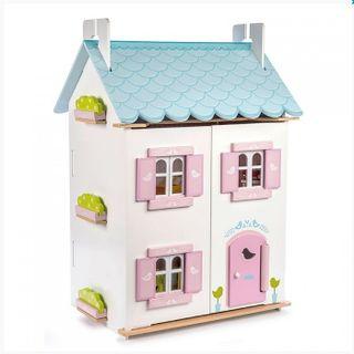 Wooden doll house Blue bird