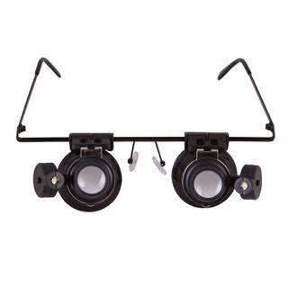 Magnifier glasses LEVENHUK Zeno Vizor G2, magnification X20, the lens diameter of 15 mm, illuminated, metal/plastic