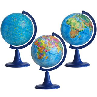 School set of globes with a diameter of 150 mm