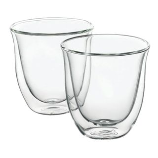 Set of coffee DELONGHI for cappuccino for 2 people, glass, 190 ml, transparent