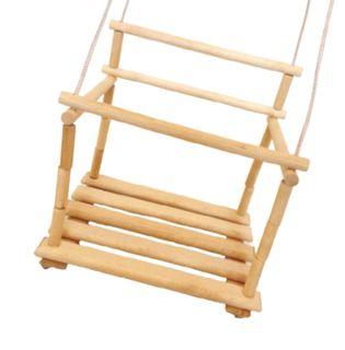 Swing set for children, wooden toys