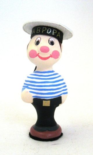 Doll-poteshka gift porcelain. Sailor