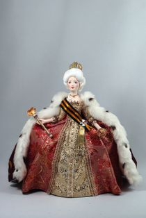Doll gift porcelain. The Empress Catherine II the Great.