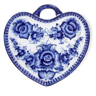 Tray Heart 2nd grade, Gzhel Porcelain factory