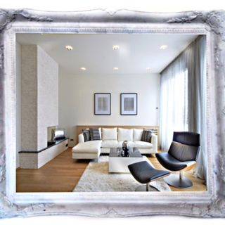Mirrors of the Palace of carved marble frame Tuscany-vintage mother of Pearl (white), 75 X 65 cm