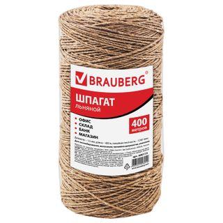 BRAUBERG / Bank linen twine, diameter 1.5 mm, length 400 m, linear density 1250 tex