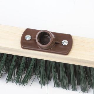 LIMA / Expert brush for cleaning technical, width 40 cm, stiff bristles 8 cm, wood, Euro thread