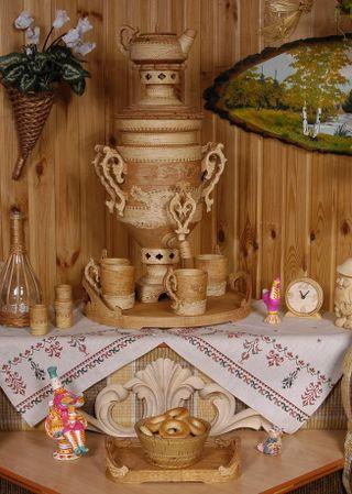 Tea set with a samovar