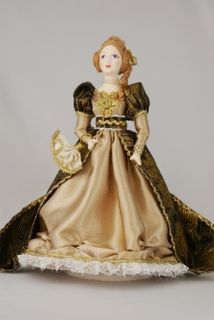Doll gift porcelain. The lady in secular costume. 19th century 60-e g Europe.