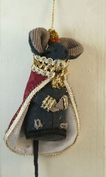 The mouse king. Fairy tale character (Hoffman's 'the Nutcracker'). Textiles. Doll gift