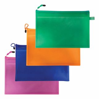 Folder-zipper envelope A4 (335х243 mm), 2 compartments, PVC, BRAUBERG Energy cuts