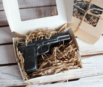 Mens coffee soap handmade Gun