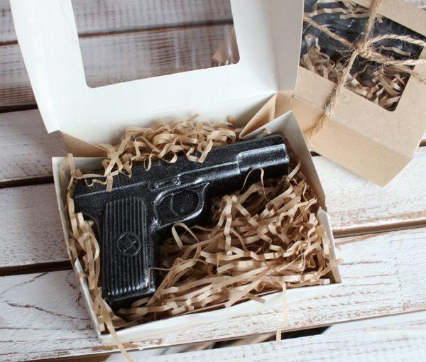 Mens coffee soap handmade Gun
