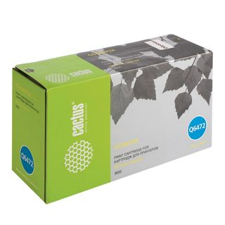 Toner cartridge CACTUS (CS-Q6472A) for HP ColorLaserJet 3600N / 3600DN / 3800N, yellow, yield 4000 pages