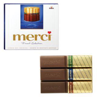 MERCI / Milk chocolate assorted sweets, cardboard box 250 g