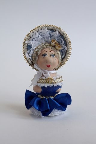 Doll-poteshka gift porcelain. Lady