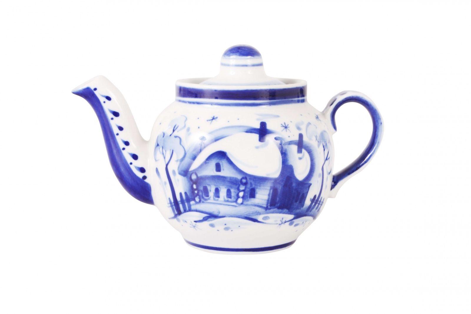 Dulevo porcelain / Teapot 350 ml Amber Winter