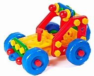Jeep Patrol. Bright colorful children's toy, develops the logic of the baby and the motor skills of the fingers. It's fascinating.
