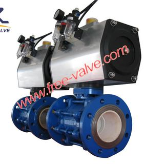 Wcb Ceramic Lining Pneumatic Flanged Ball Valve,Wcb Ceramic Abrasion Resistant Flange Ball Valve