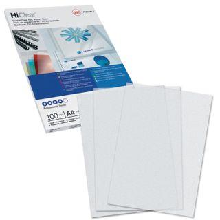 Plastic covers for A4 binding, SET 100 pcs., 200 microns, transparent, GBC