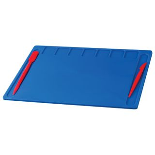 Board for sculpting A4 280х200 mm, INLANDIA, blue, 7 pockets for clay, 2 stack
