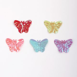 Sequin creativity Butterfly, bright, color assorted, 5 colors, 15 mm, 20 grams, TREASURE ISLAND