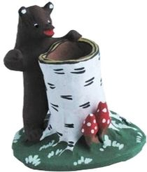 Pencil bear-bear - kapogopolskiy souvenir from ceramics