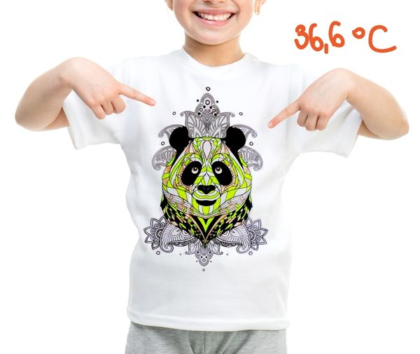 Children's t-shirt with special effects PANDA