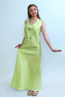 Dress womens linen 9-193a