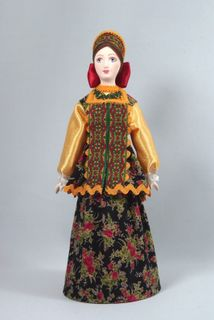 Doll gift. Russia. Maiden costume.