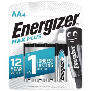 ENERGIZER / Batteries Max Plus, AA (LR06, 15A) alkaline finger, SET 4 pcs. in blister