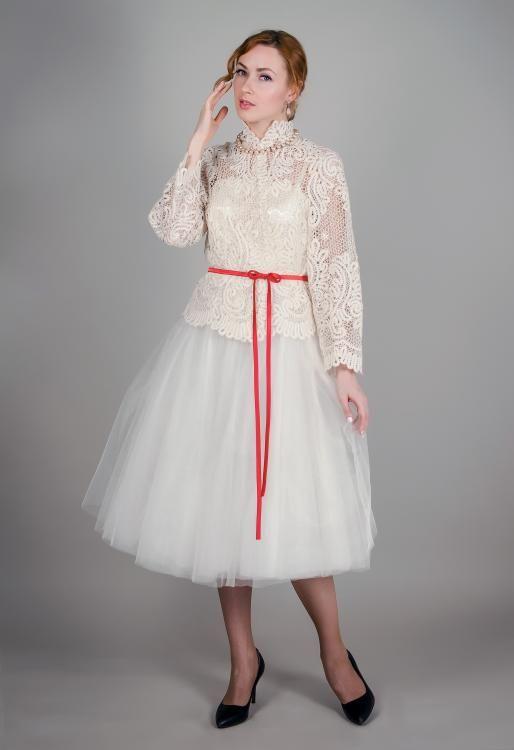 "Dress women's ""Russian seasons"" white"