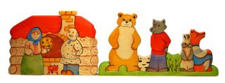 The Kolobok puzzle is a colorful developing toy (handmade)