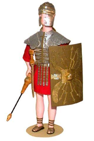 Doll gift. A Roman infantryman. The military uniform.The Roman Empire. 4-6 century BC.