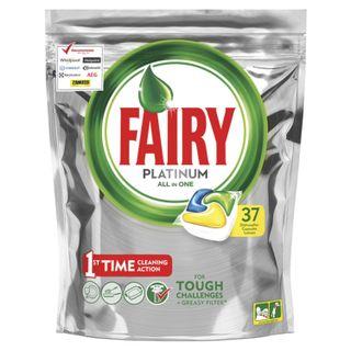 Dishwasher tablets 37 fairy platinum All in 1, Lemon, capsules