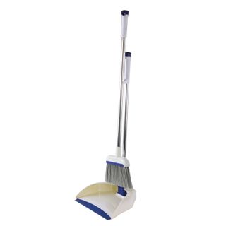 LIMA / Broom scoop with brush, mechanical ejector, handle 67 cm, rubber edge, for home and office