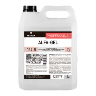 Sanitary cleaning tool 5 litres, PRO-BRITE ALFA-GEL, acid, concentrate, gel