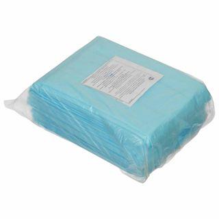 HEXA / Non-sterile disposable sheets, set of 10 pcs., 70x200 cm, laminated spunbond 40 g / m2, blue