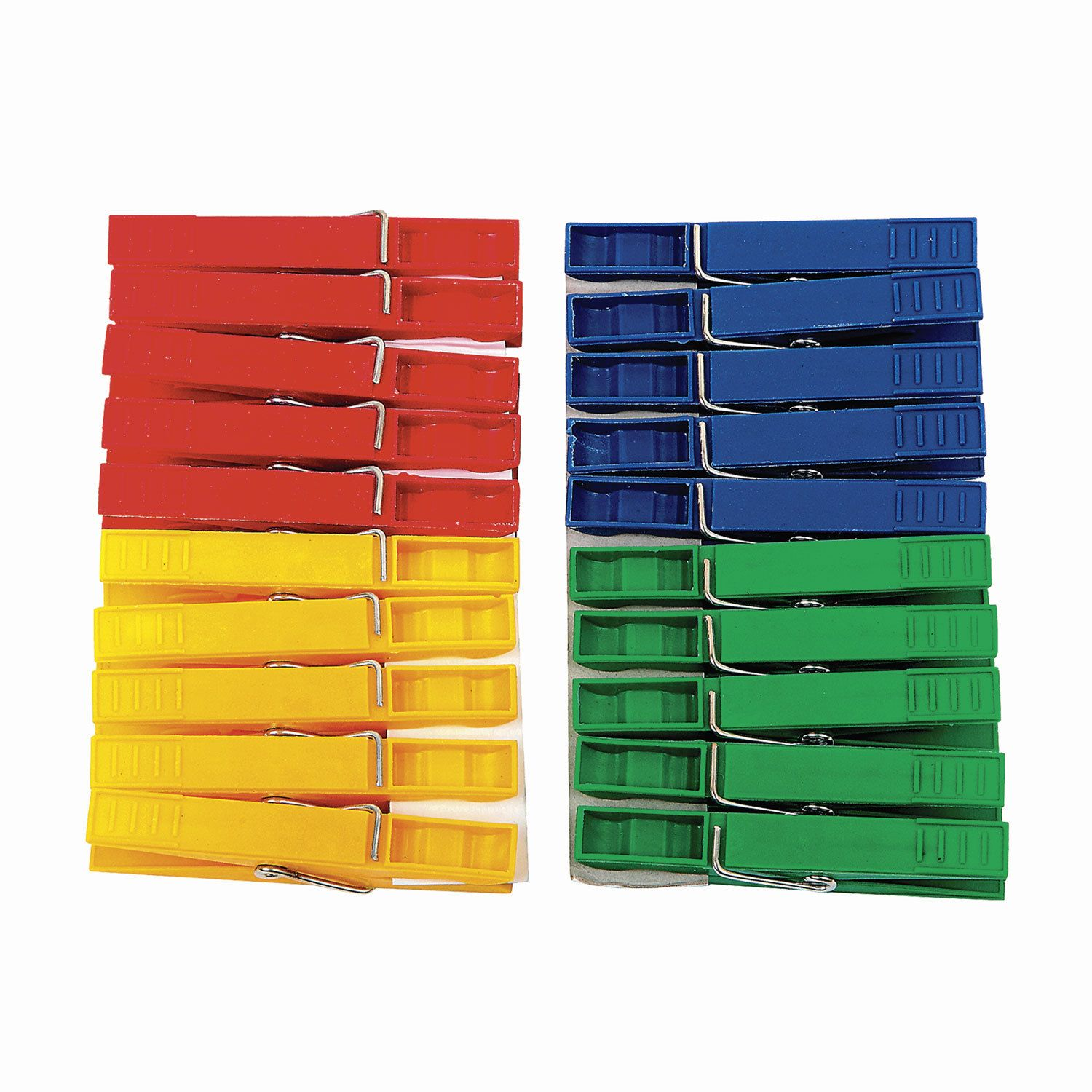 "YORK / Plastic clothespins AZUR ""Standard"" universal, assorted color, set of 20 pcs."