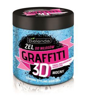 Hair gel STRONG (blue ) , BIELENDA GRAFFITI 3D , 250ml