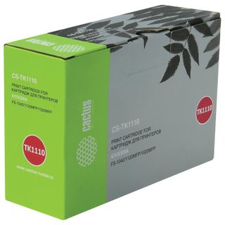 Toner cartridge CACTUS (CS-TK1110) for KYOCERA FS-1040/1020/1120, yield 2500 pages.