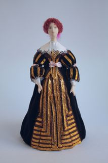 Doll gift. The lady in the court dress of the mid-17th century Germany.
