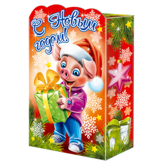"""New Year's gift Piglet """"Antoshka"""", a set of sweets 300g."""